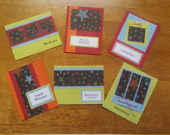 Set of 6 Homemade Cards