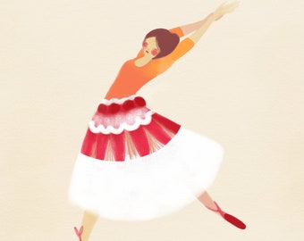 Ballet greeting card, blank inside