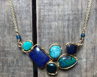 Mosaic Blues Necklace