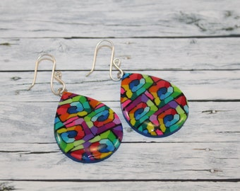 Rainbow drop earring