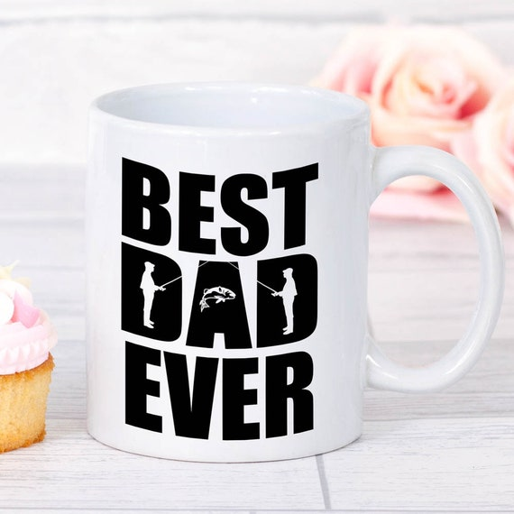 fathers day fishing gift best dad ever mug fishing gifts
