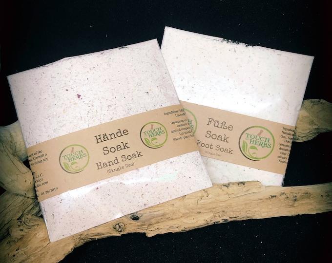 Foot and Hand Soak - Sachets & Soaks - Spa Gift Set - Spa Party - Wellness Gift Set - Small Gifts - Herbal Bath - Small Beauty Gifts - Soak