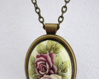 "Romantic necklace ""old pink"""