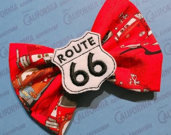 Cars Route 66 Hairbow