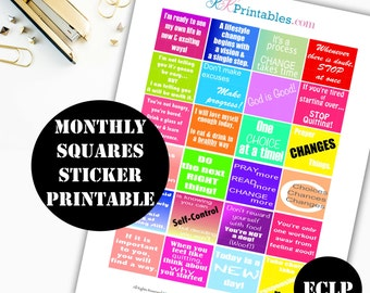Monthly Inspiration Printable Planner Stickers // Erin Condren Printable / Erin Condren Life Planner / Sticker Printable Download 00028