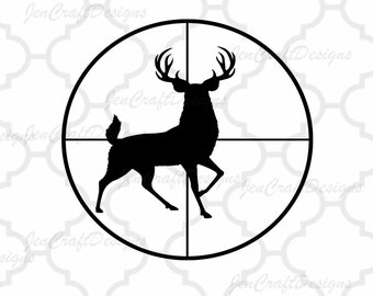 Deer SVG Cutting File, Hunting Svg, PNG, Studio3, EPS, Dxf Files, Vector Art, Cricut Design Space, Silhouette, Digital Cut Files