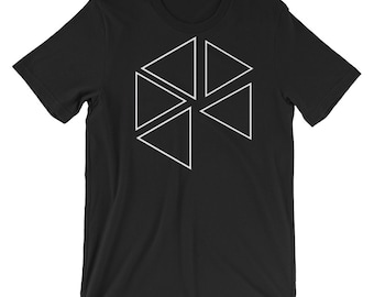 The missing triangle T-shirt, Unisex T-shirt, Men's T-shirt, American Apparel Crew Neck, unique T-shirt,100% Cotton,  Made in the USA