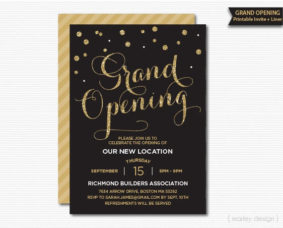 Completely new Grand Opening Invitation Corporate Invitation Company NH32