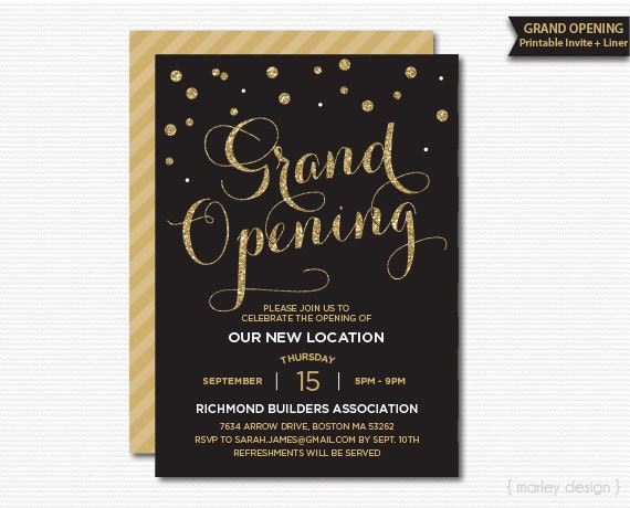Grand opening invitation corporate invitation company zoom filmwisefo Image collections