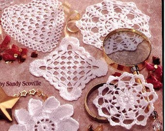 A Dozen Tiny Doilies in thread crochet Mini doily crochet pattern Pdf file