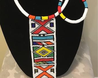Ndebele rope neckpiece with bracelet
