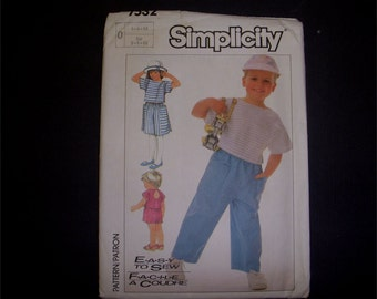 Adorable Childrens wear! 1986 Simplicity Sewing Pattern Nautical inspired shirt, skirt, pants and shorts childs size 5-6-6x New and uncut