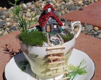 Fairy Garden Tea Cup
