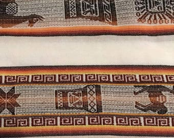 Genuine Bolivian Aguayo - Native South American Textile - Tribal Stripy Woven Textile