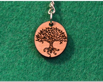 Tree of Life Wooden Keychain