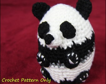 Panda Stuffed Animal (Russian Doll Style) - CROCHET PATTERN