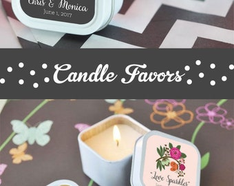 Black and White Bridal Shower Favors Bohemian Wedding Bohemian Bridal Shower Candle Favors Boho Chic Wedding Favors  (EB2077MP) - 12| pcs
