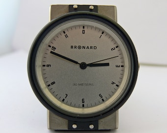 Bronard quartz analog ca 1990 gents Scandinavian design collectors watch .