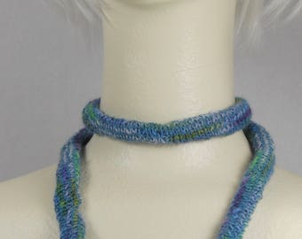 Laceweight knit necklace