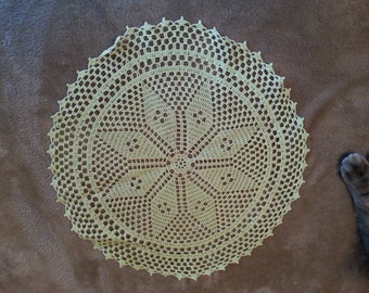 Yellow Round Doily