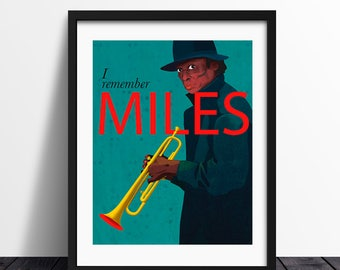 I remember Miles / Illustration Print / Art Print / High Quality Print / Jazz Illustration / Ilustración / Fine Art Print / Miles Davis