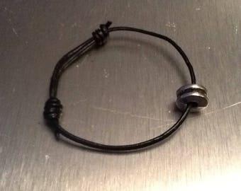 Bracelet Leather wheel plus pendant