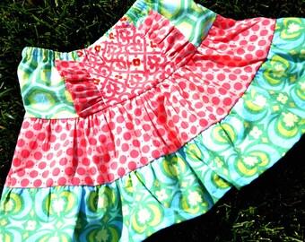 "Girls Skirt Pattern, PDF Sewing Patterns ""The Mckenna Skirt"" sizes 12m-12"