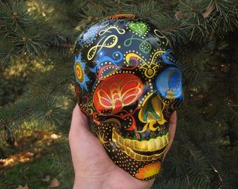 Sugar Skull, Mexican Skull, Colorful Skull, Flowers, Day of the Dead, Calavera, Home Decore, Handmade skull, Painted Skull, Crafted Skull