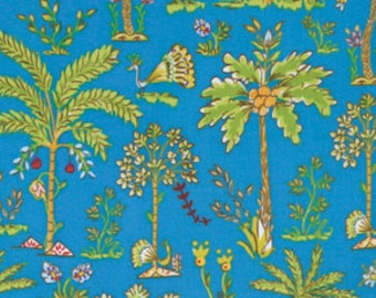 Palm Trees - Blue - Haute Girls by Dena Designs PWDF209 - Available in Fat Quarters, Half Yards and Yards