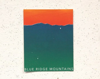 Blue Ridge Mountains || 4-Color Screen Print, first print