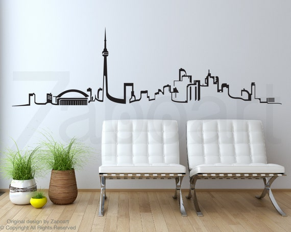 Toronto skyline wall vinyl decal