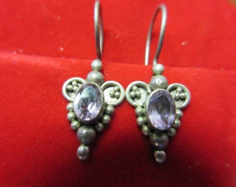 Sterling Silver Amethyst 925 Earrings