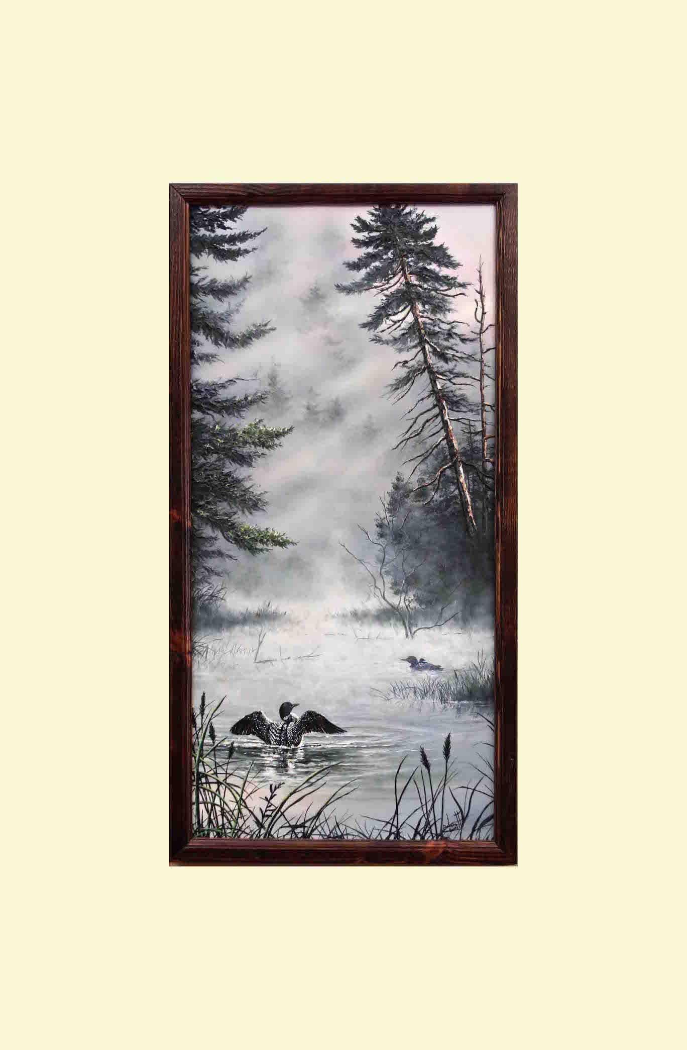Bird Art, Large Painting, Landscape, Framed Art, Original Painting ...