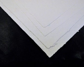 Ten Hand Made Paper White Watercolor Papers PM-WC10-8 1/2x11