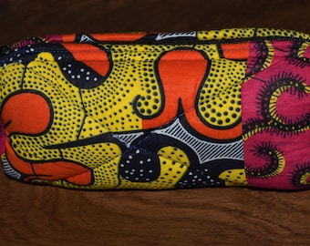 Hand made quilted clutch purse.