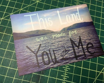 This Land Was Made For You and Me Postcard