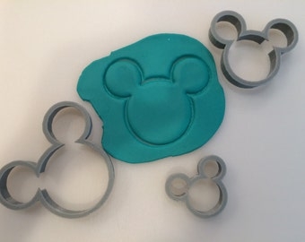 Mickey Mouse Cookie Cutter - 3D Printed Plastic - Choose Size