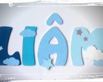 letter name wood, wooden name plaque door, large letter, wall decor, letters to stick