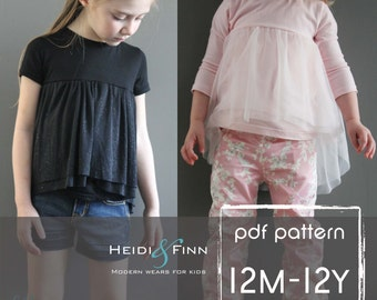 Ballon Top pattern and tutorial 12m -12y chiffon ballet tee shirt blouse PDF