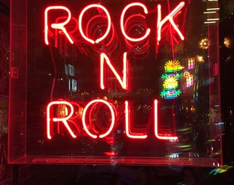 Photographic Art Print of Rock N Roll Sign