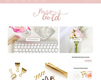 ROSEGOLD | Theme template blogger RESPONSIVE
