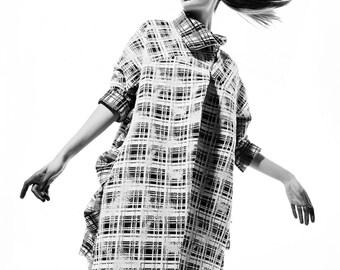 3/4 sleeve textured women's coat
