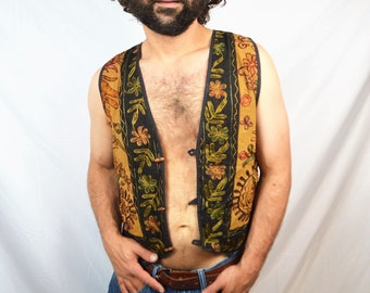 Vintage 90s Embroidered Guatemalan Hippie Vest