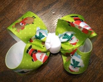 Santa Reindeer Bow