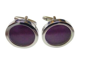 Polka Dot Deep Purple Colored Classic Cufflinks