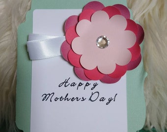 "Happy Mother's Day Greeting card, 5x7"" Handmade Greeting Card"
