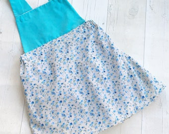 Floral Girls / Baby Pinafore Dress (Sizes: 6-9 months, 9-12 months, 1-2 years, 2-3 years, 3 years and 3-4 years)