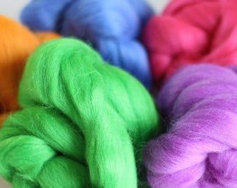 Meadow Wool Bundle, Roving, Wool Roving, Needle Felting, Felting Wool, Dyed Roving, Roving Wool, Merino Wool, Needle Felting Kit, Wool