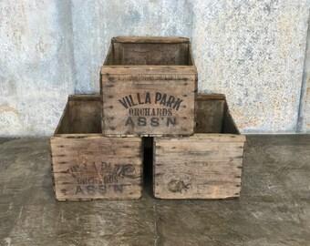 Villa Park Orchards ASSN - Vintage Wood Orange Crates