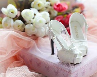 1/3bjd SD16 shoes,Lace peep toe high heel shoes